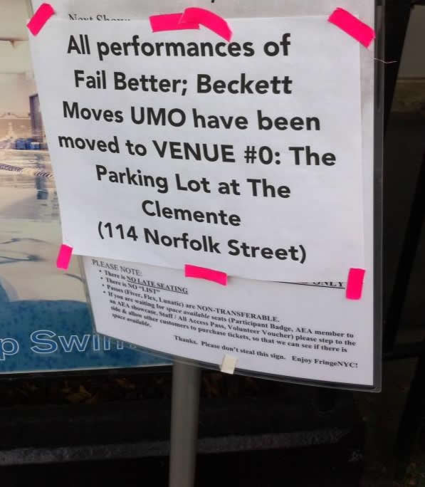 Fail Better: Beckett Moves UMO