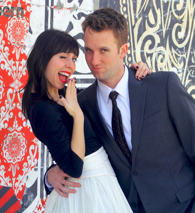 Laura Grey  and Jordan Klepper